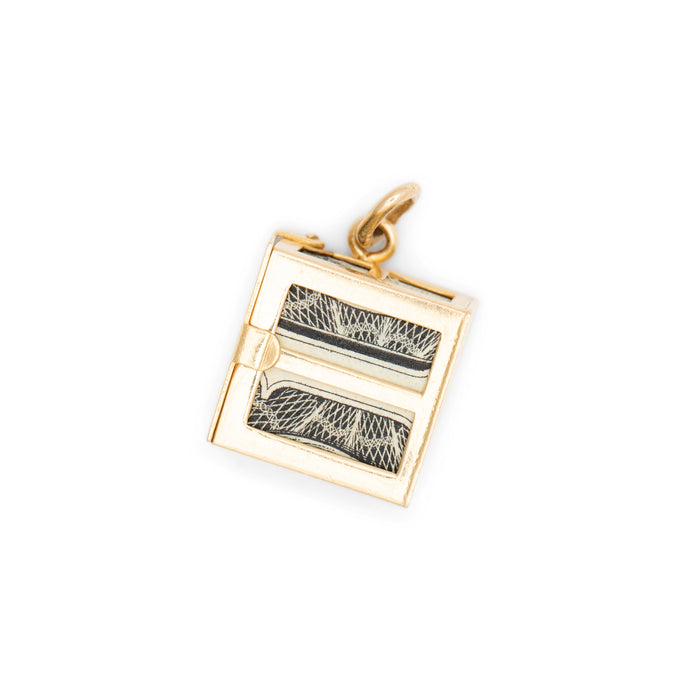 Rainy Day Dollar Bill 14K Gold Charm