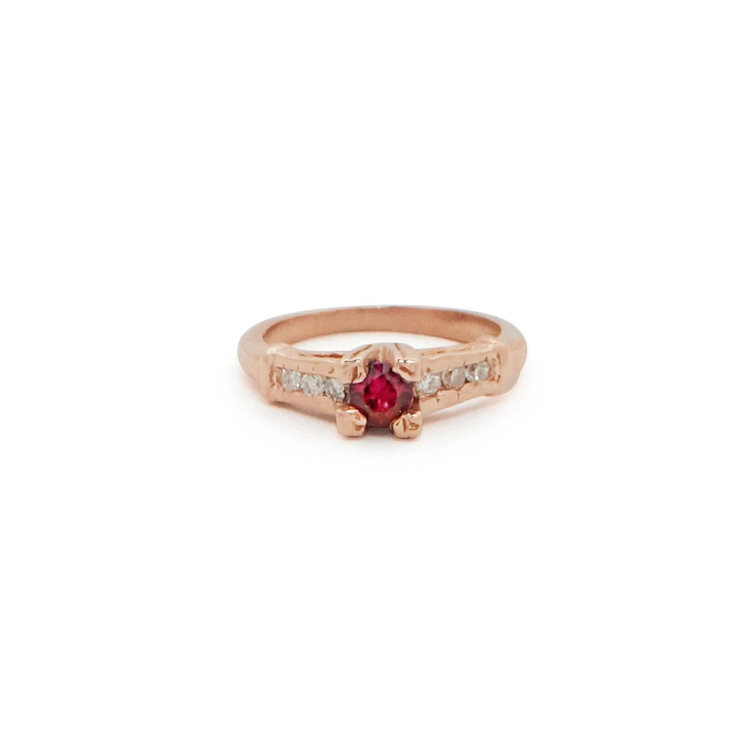 The F&B X Gemfields Ruby Major Mini Ring Necklace