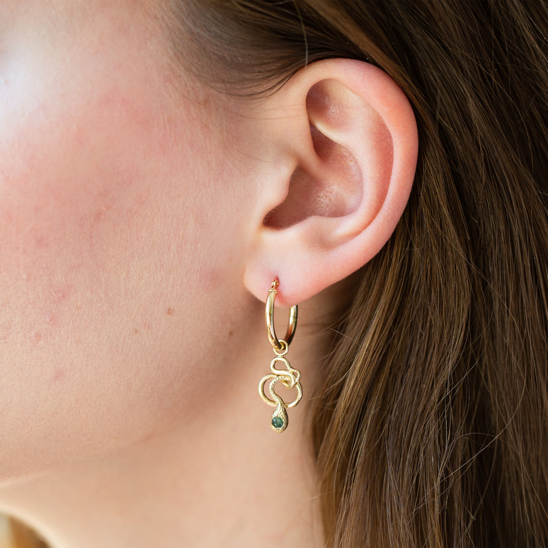 The F&B Snake Charmer Hoop Earrings