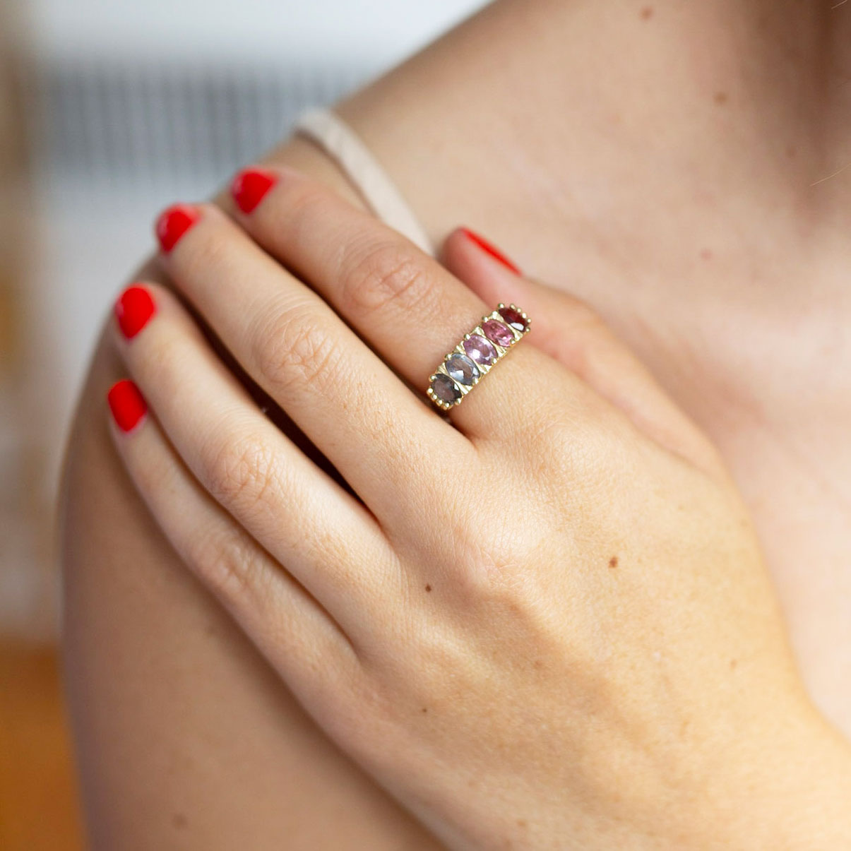 The F&B Dusty Rose Ombre Ring