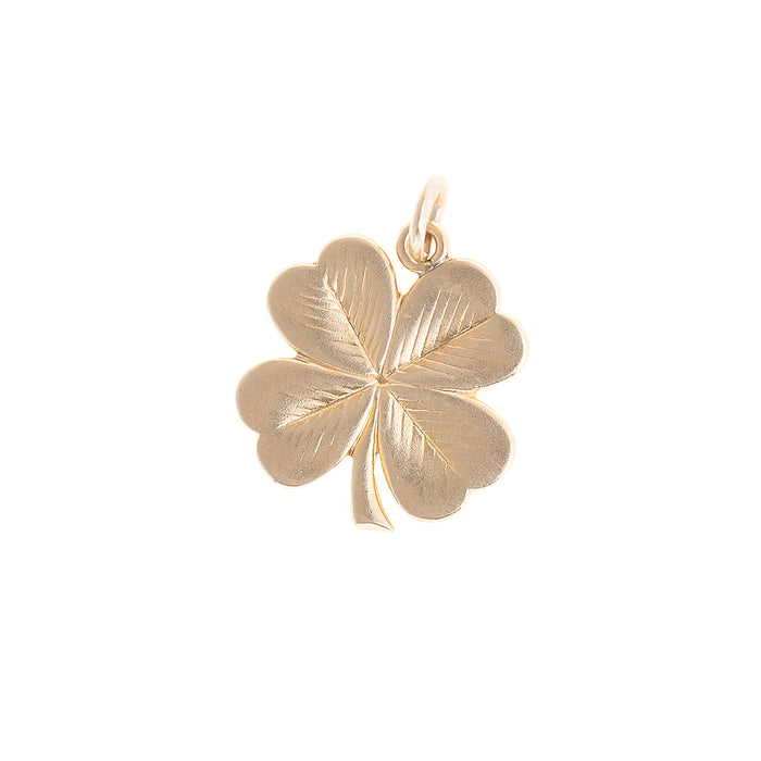 Four-Leaf Clover Shamrock 14k Gold Charm