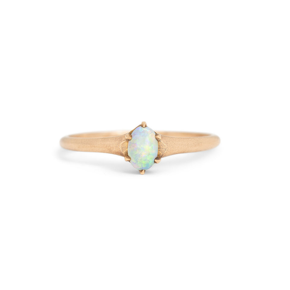 Petite Opal And 14k Gold Ring