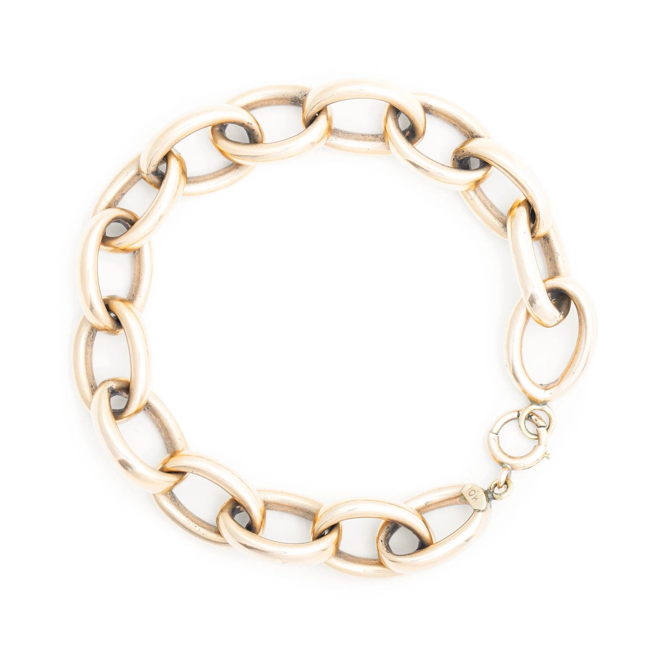 10k Rose Gold Open Link Bracelet