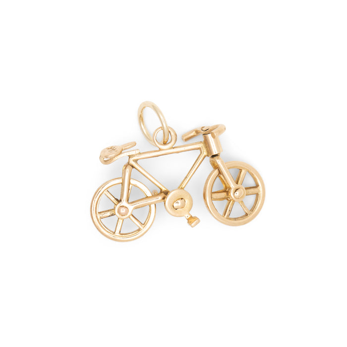 Movable Bicycle 14K Gold Charm
