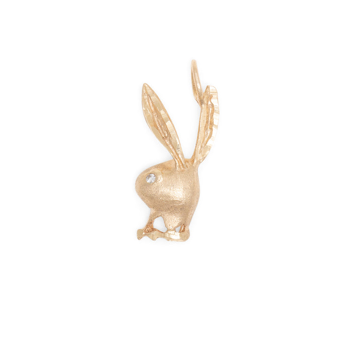 Playboy Bunny Diamond And 14K Gold Charm
