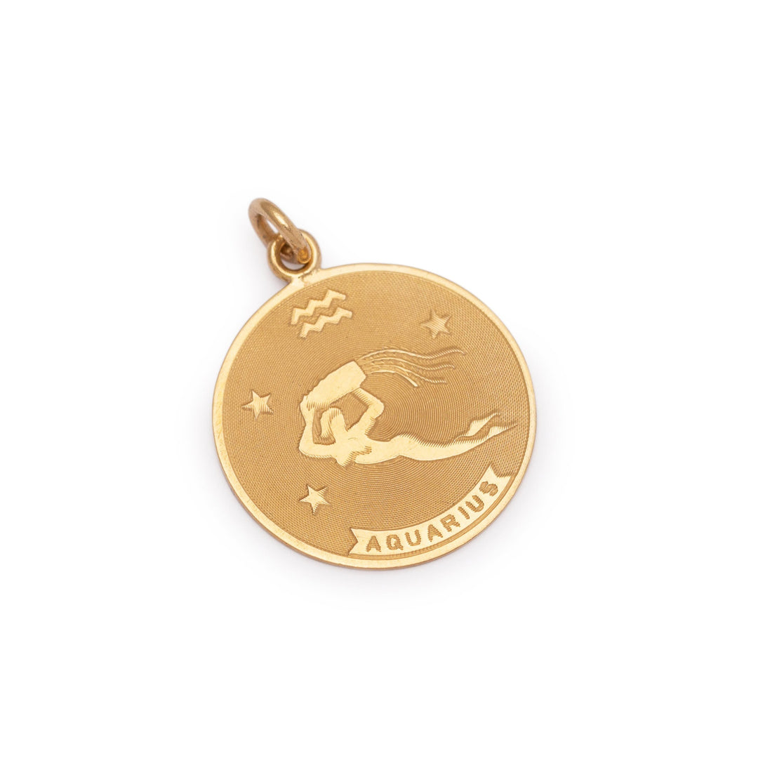 Aquarius 14k Gold Charm