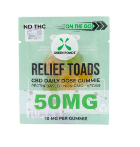 Green Roads Relief Toads - 50mg