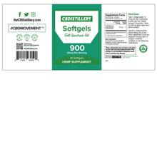 Load image into Gallery viewer, CBDistillery Softgels 900mg