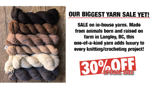 Yarn Sale, Yarn, Sale, Yarn Local, BC Yarn, Langley Yarn, Knitting BC, Yarn Sale, 30 percent, Discount Yarn