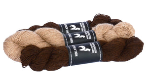 3 PLY Alpaca Double Knitting Blend Dark Fawn