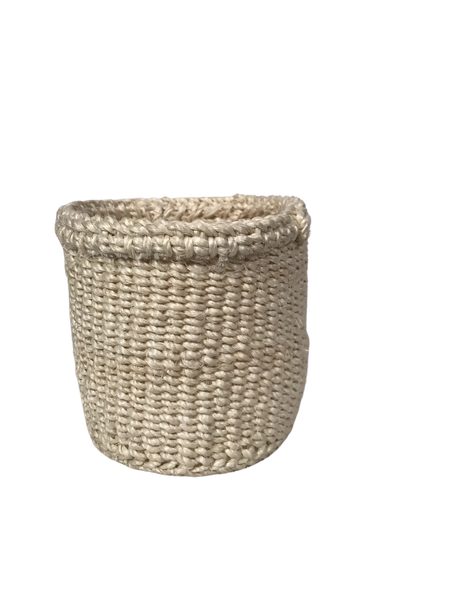 "4"" Handwoven Sisal Baskets"