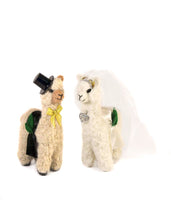 "5.5"" Felted Standing Alpaca Bridal Set"