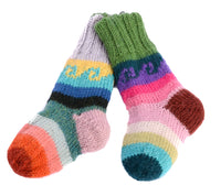 Hand Knit Kid's Reversible Socks