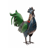 Recycled Iron Rooster Large