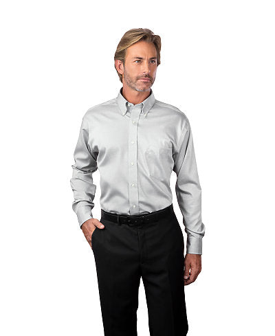 Van Heusen Men's Non-Iron Long Sleeve Pinpoint 13V143