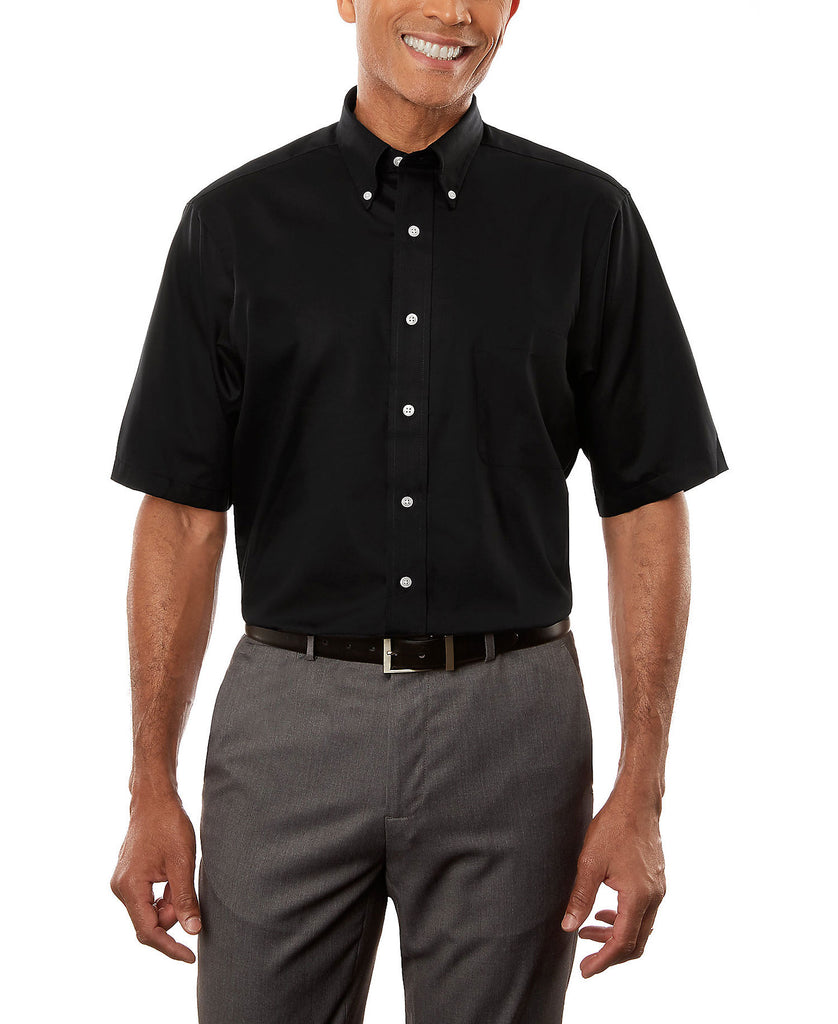 Van Heusen Men's Twill Short Sleeve Dress Shirt 13V532 - guyos apparel.com
