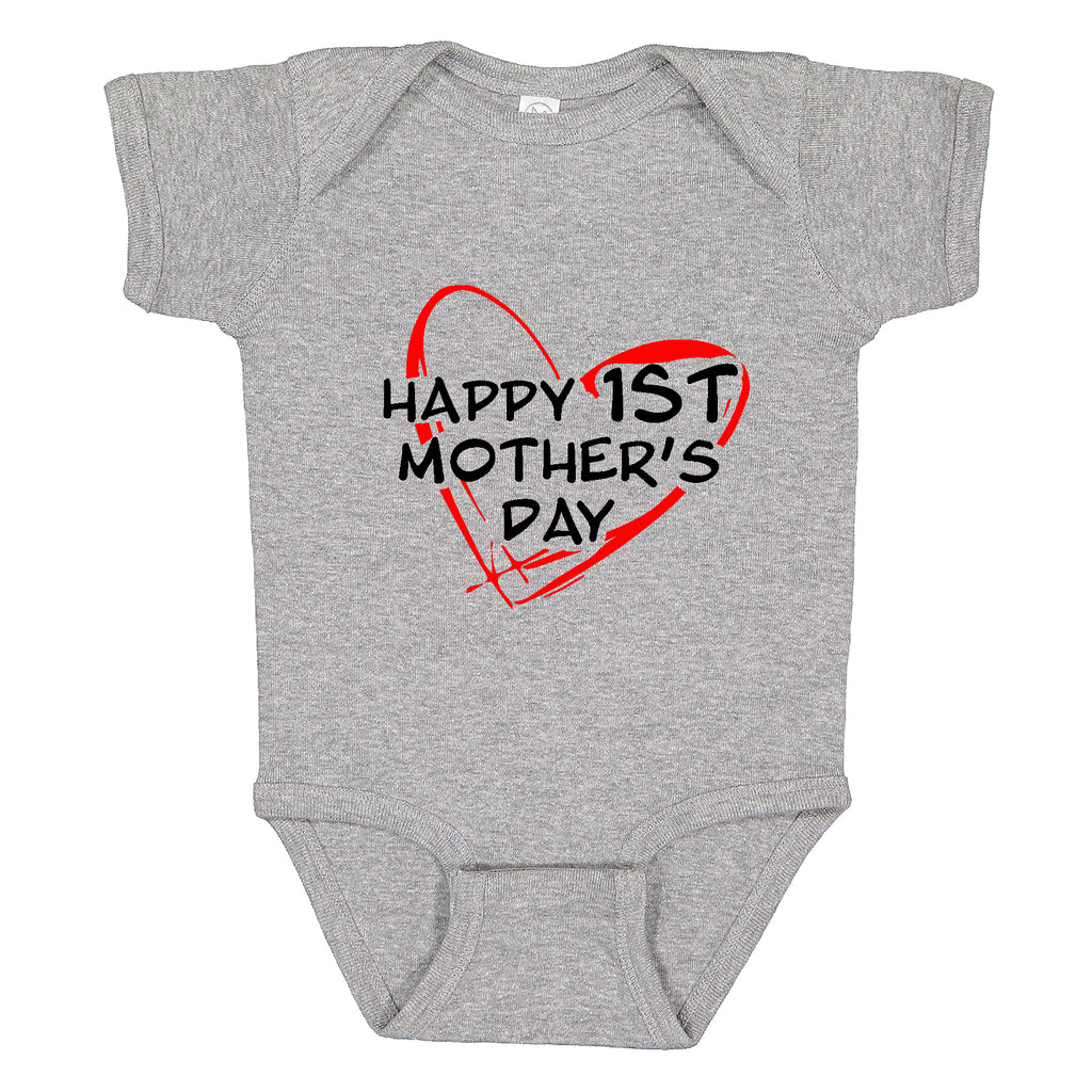Happy 1st mother's day baby Bodysuit Funny Gift