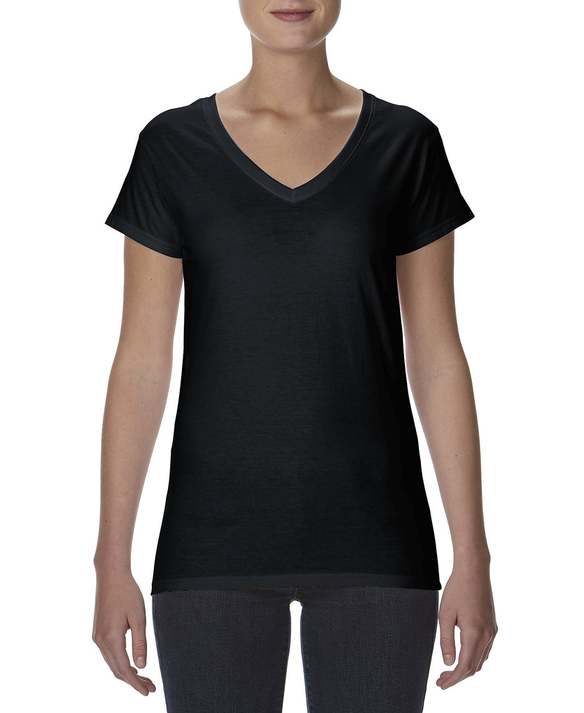 ANVIL Women's Lightweight Fitted V-Neck Tee A380VL - guyos apparel.com