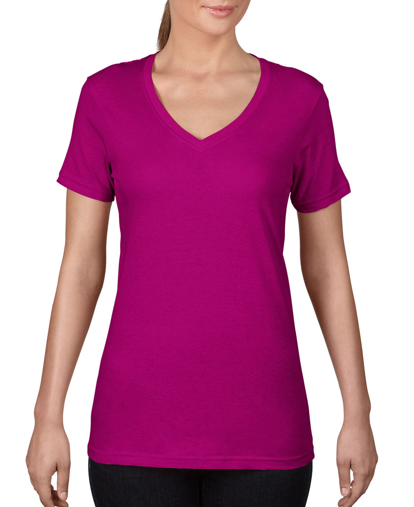 ANVIL Women's Featherweight V-Neck Tee A392 - guyos apparel.com