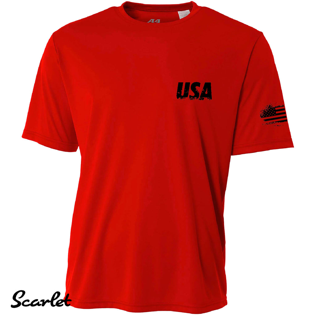Distressed Army Proud American Cooling Performance A4 t shirt Moisture wicking