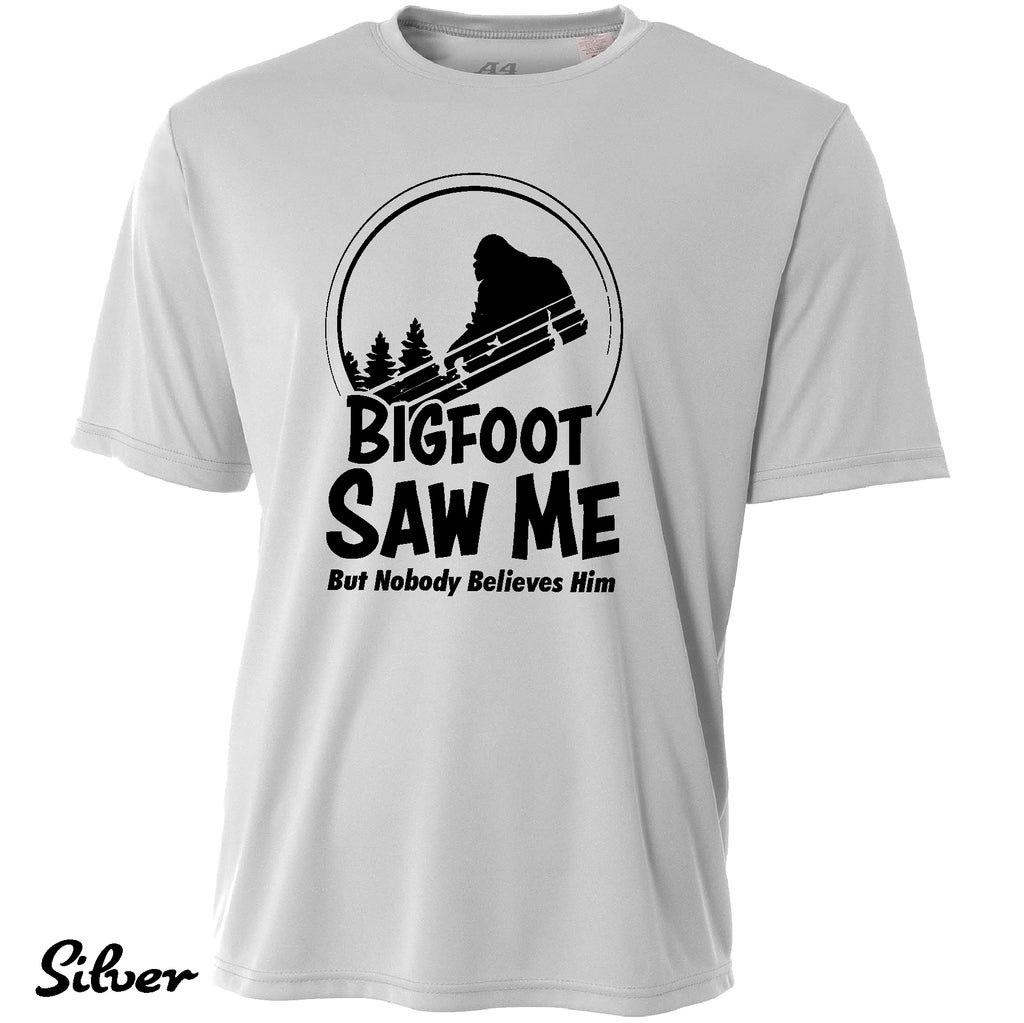 Funny Bigfoot Saw Me Cooling Performance Gift t shirt Moisture wicking tee
