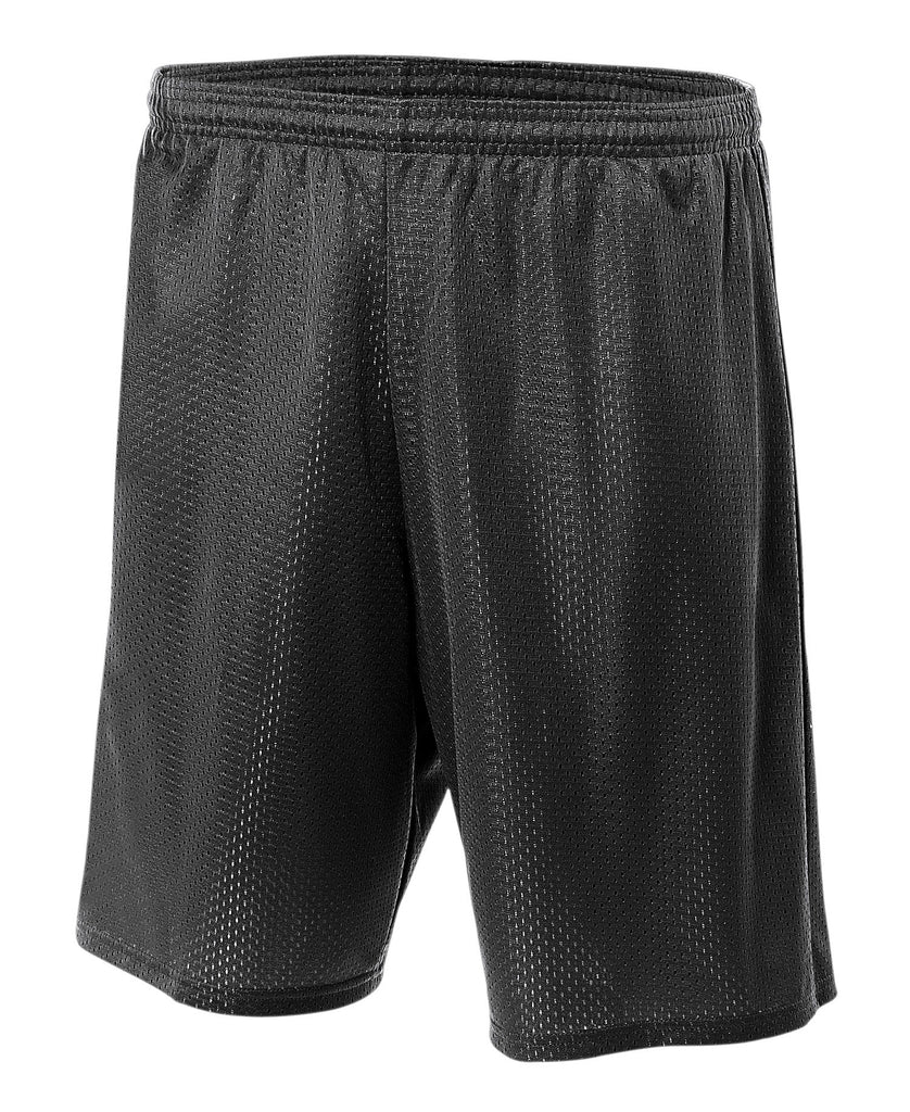 A4 9 inches  Lined Tricot Mesh Short A4N5296 - guyos apparel.com