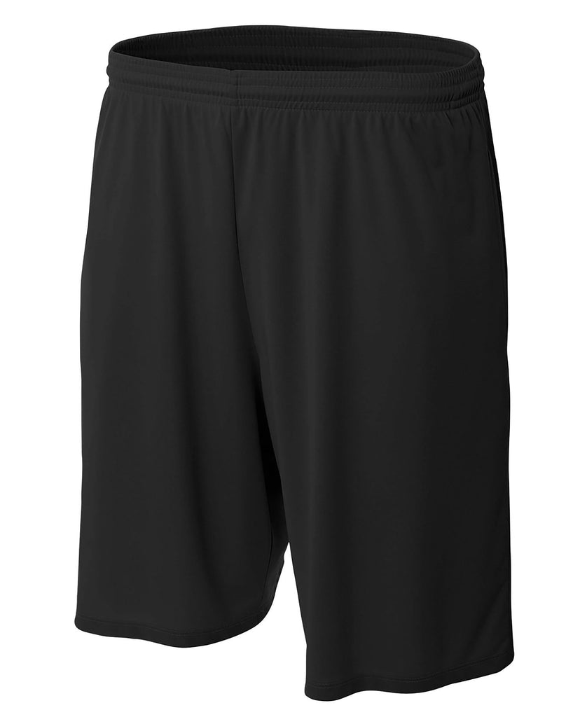 "A4 Adult 9"" Cooling Performance with Side Pockets Short A4N5338 - guyos apparel.com"