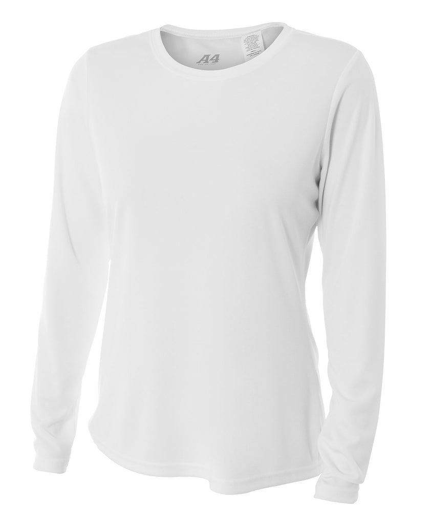 A4 Ladies Cooling Performance Long Sleeve Tee A4NW3002 - guyos apparel.com