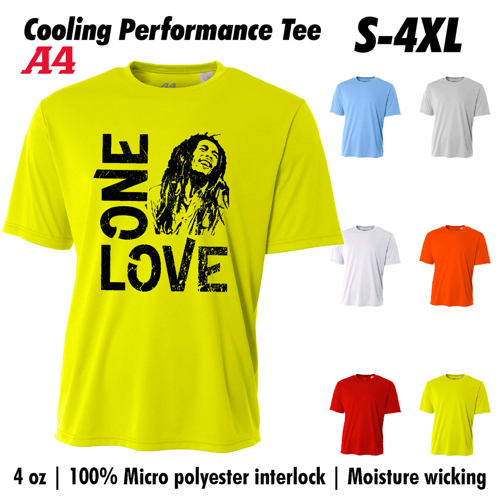 One Love Bob Marley Cooling Performance t shirt Moisture wicking tee