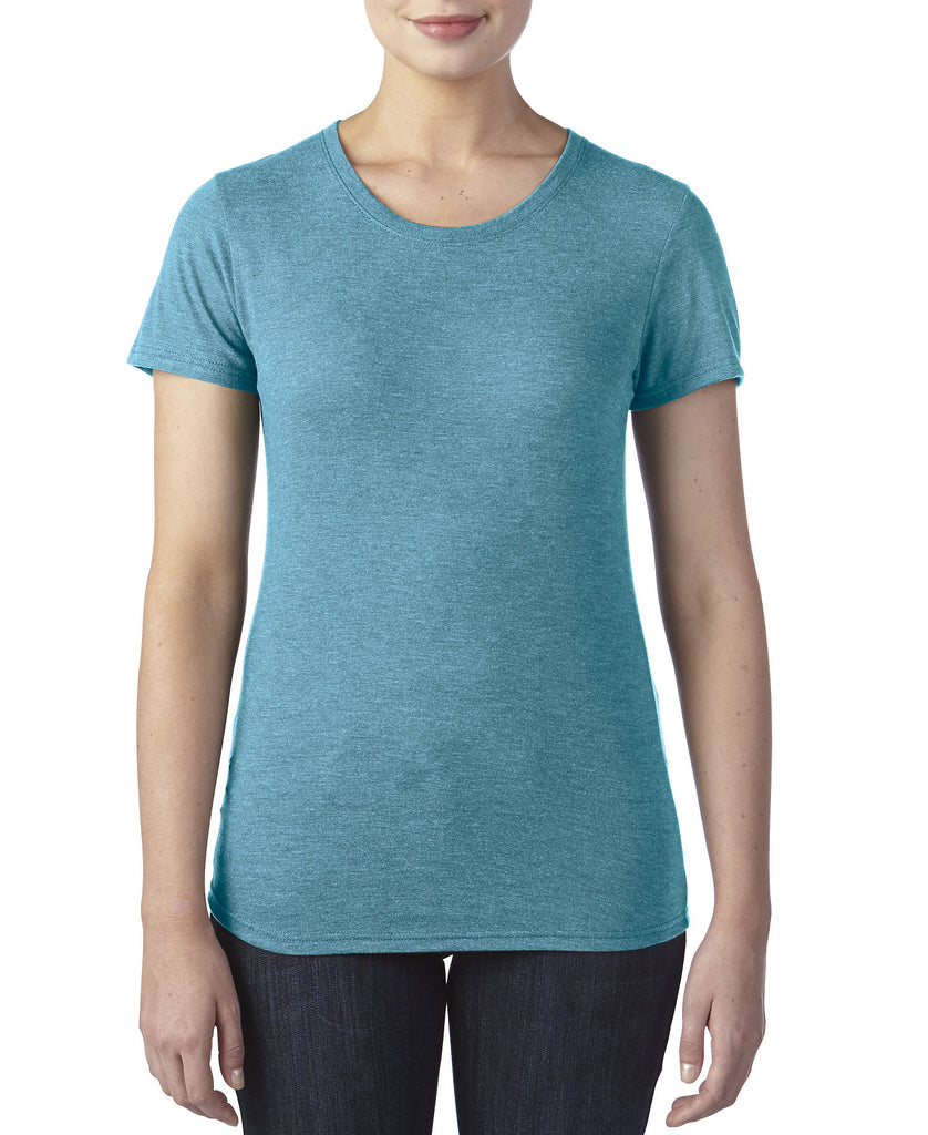 ANVIL Women's Tri-Blend Tee A6750L - guyos apparel.com