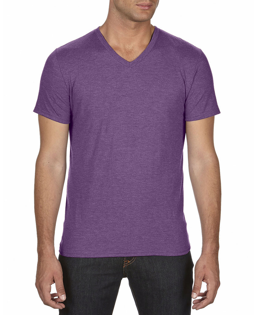 ANVIL Adult Tri-Blend V-Neck Tee A6752 - guyos apparel.com
