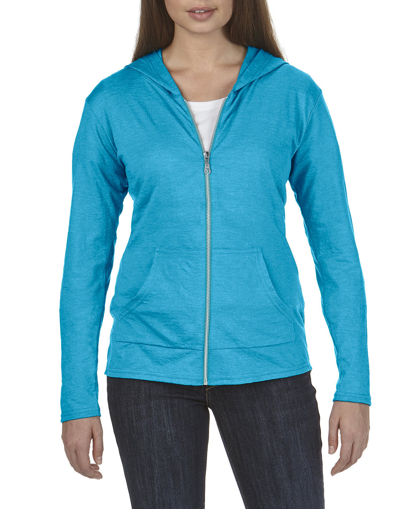 ANVIL Women's Tri-Blend Full Zip Hooded Jacket A6759L - guyos apparel.com
