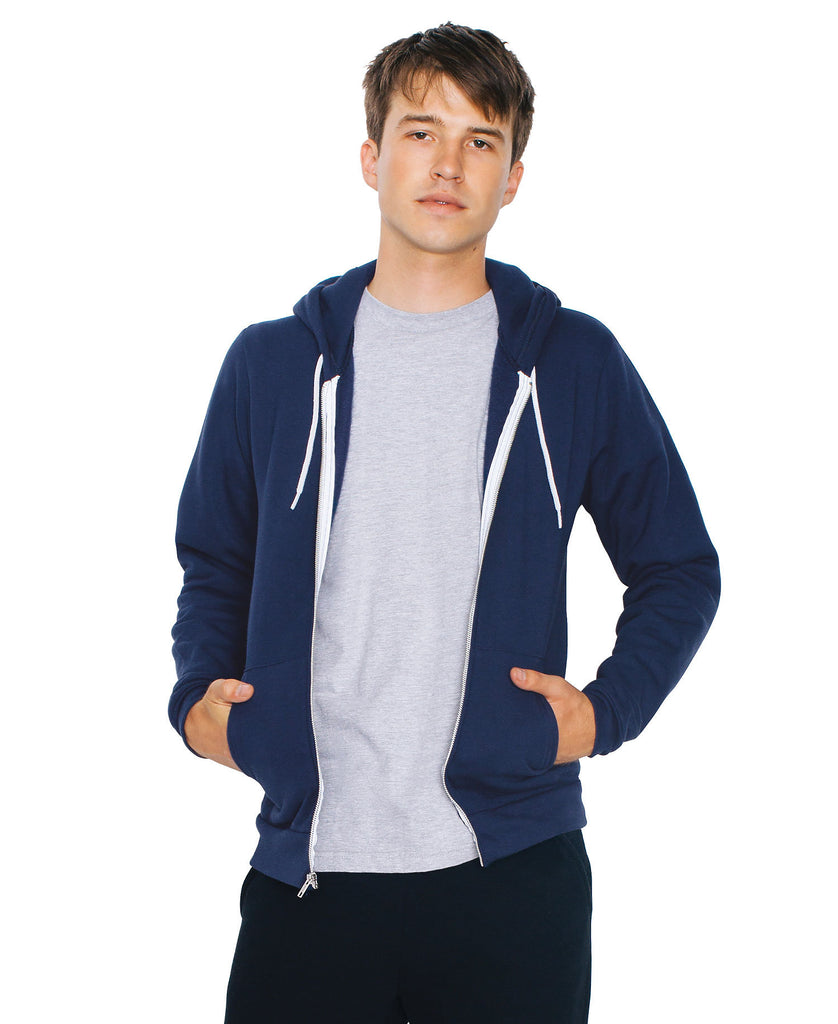 American Apparel USA Unisex Flex Fleece Full Zip Hood AAF497 - guyos apparel.com