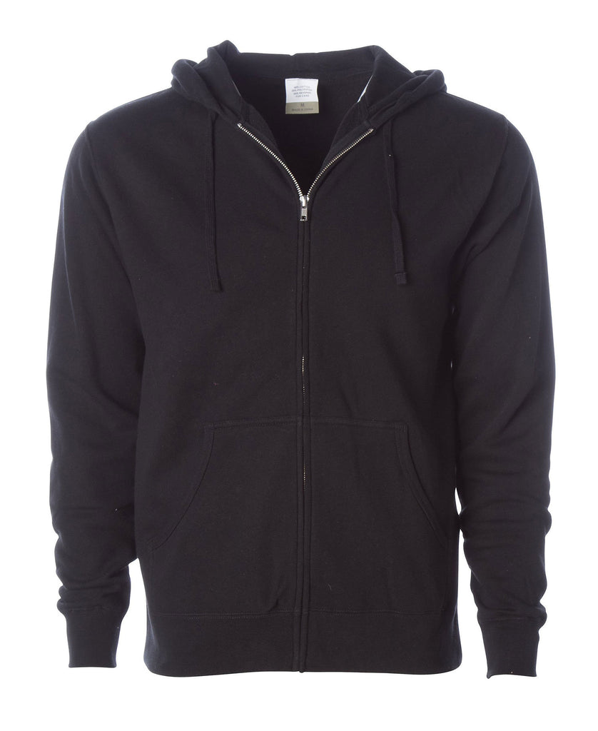 Independent Adult Lightweight Fitted Zip Hooded Fleece AFX40Z - guyos apparel.com
