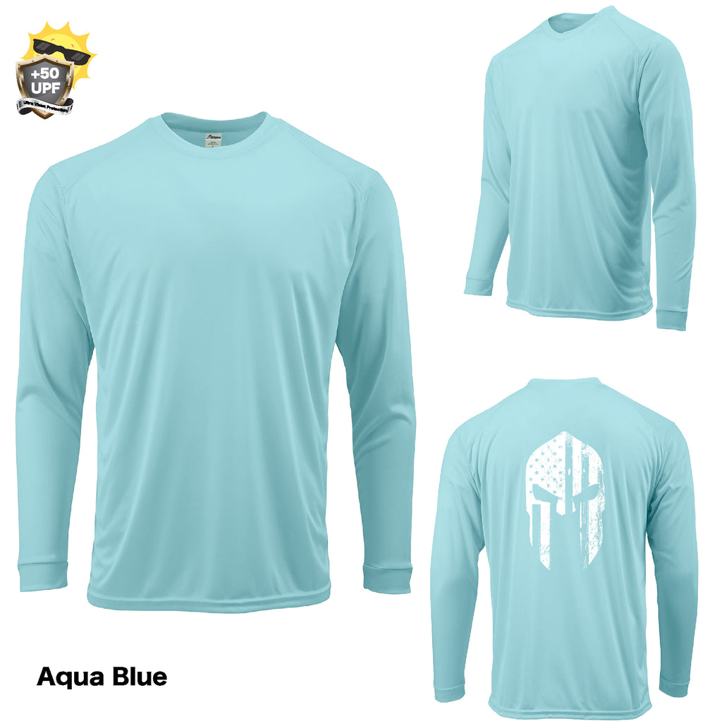 +50 UPF Adult Long Sleeve AMERICAN WARRIOR USA Performance FISHING  BOAT T SHIRT