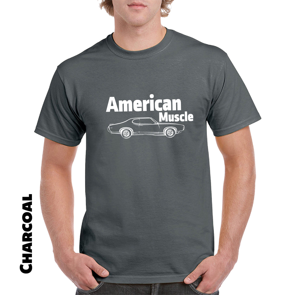 AMERICAN MUSCLE  T Shirt Car Parts Engine Tee street race car funny gift - guyos apparel.com
