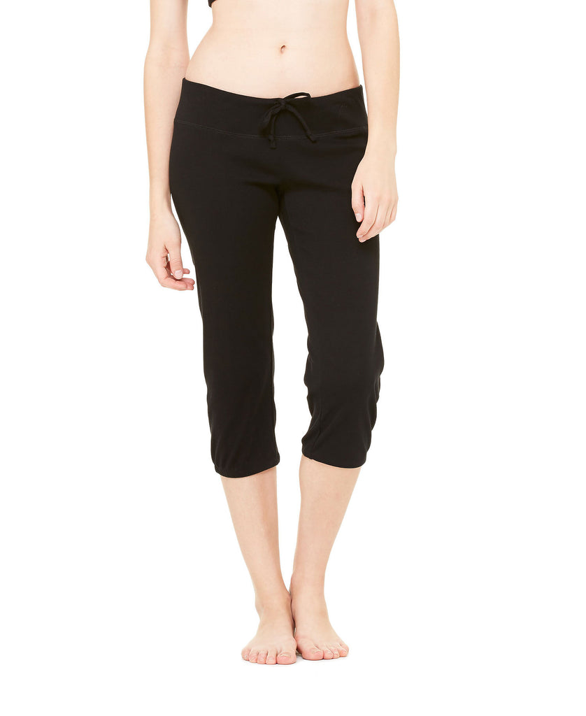 BELLA CANVAS Womens Capri Scrunch Pant B0816 - guyos apparel.com
