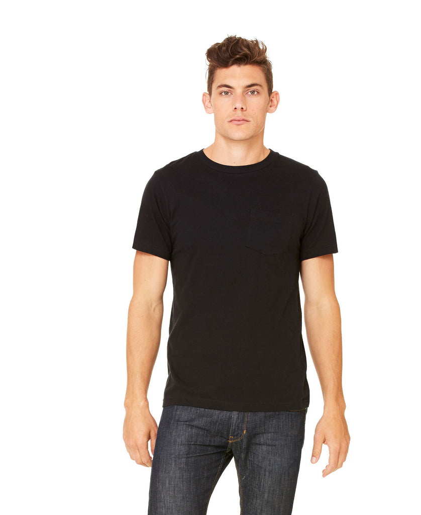 BELLA CANVAS Mens Jersey Short Sleeve Pocket Tee B3021 - guyos apparel.com