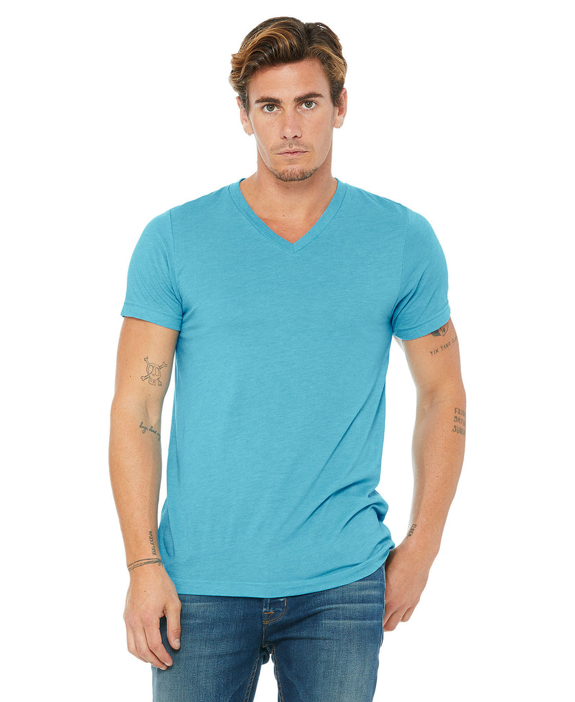 BELLA CANVAS Unisex Triblend Short Sleeve V-Neck Tee B3415 - guyos apparel.com