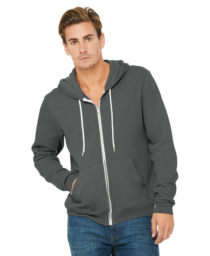 BELLA CANVAS Unisex Sponge Fleece Full-Zip Hoodie B3739 - guyos apparel.com