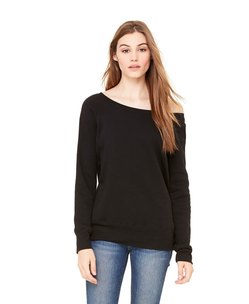 BELLA CANVAS Women's Sponge Fleece Wide Neck Sweatshirt B7501 - guyos apparel.com