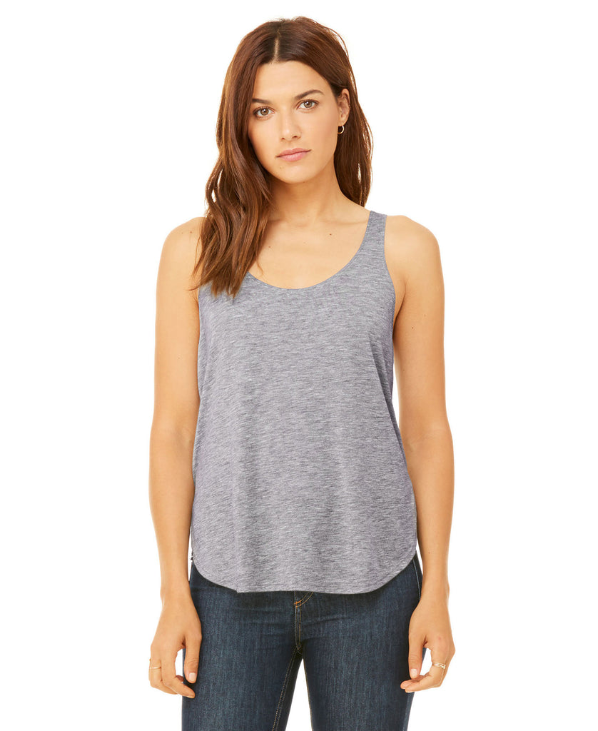 BELLA CANVAS Women's Flowy Side Slit Tank B8802 - guyos apparel.com