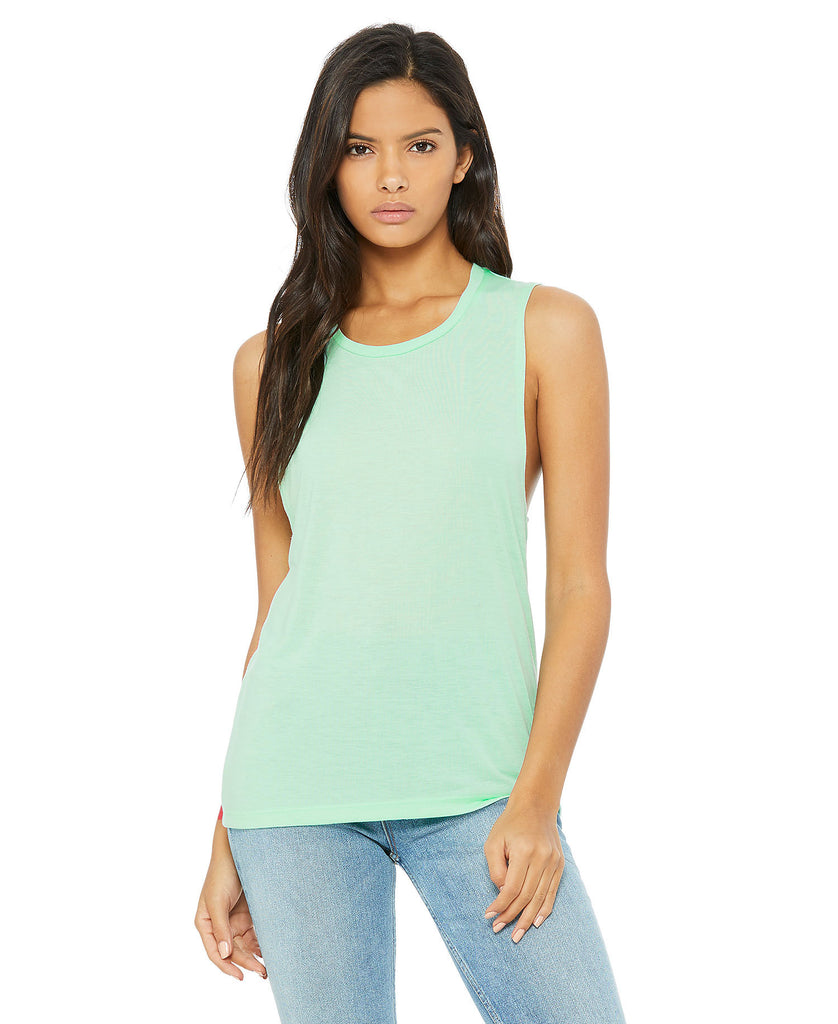 BELLA CANVAS Women's Flowy Scoop Muscle Tank B8803 - guyos apparel.com