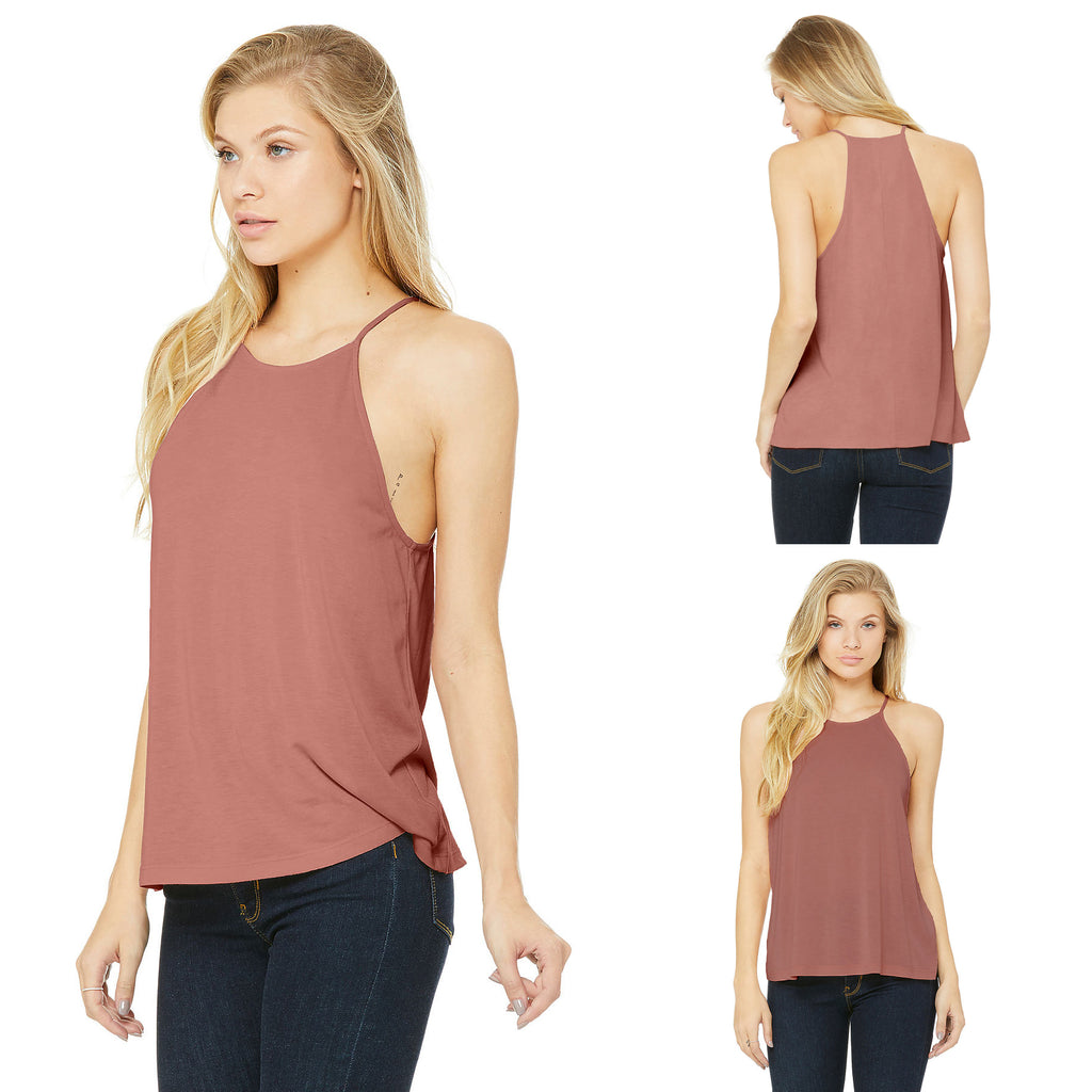 BELLA CANVAS Women's Flowy High Neck Tank B8809