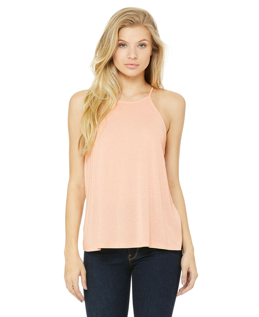 BELLA CANVAS Women's Flowy High Neck Tank B8809 - guyos apparel.com
