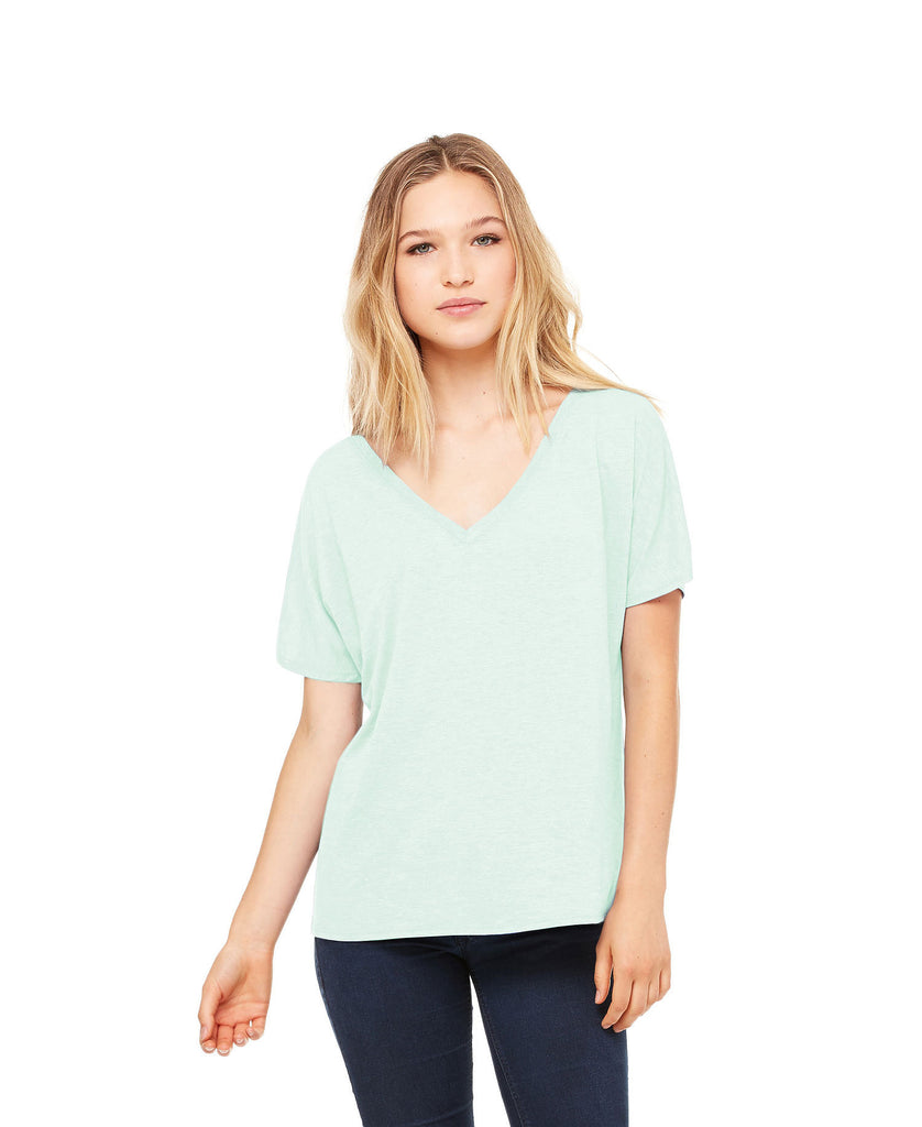 BELLA CANVAS Women's Slouchy V-Neck Tee B8815 - guyos apparel.com