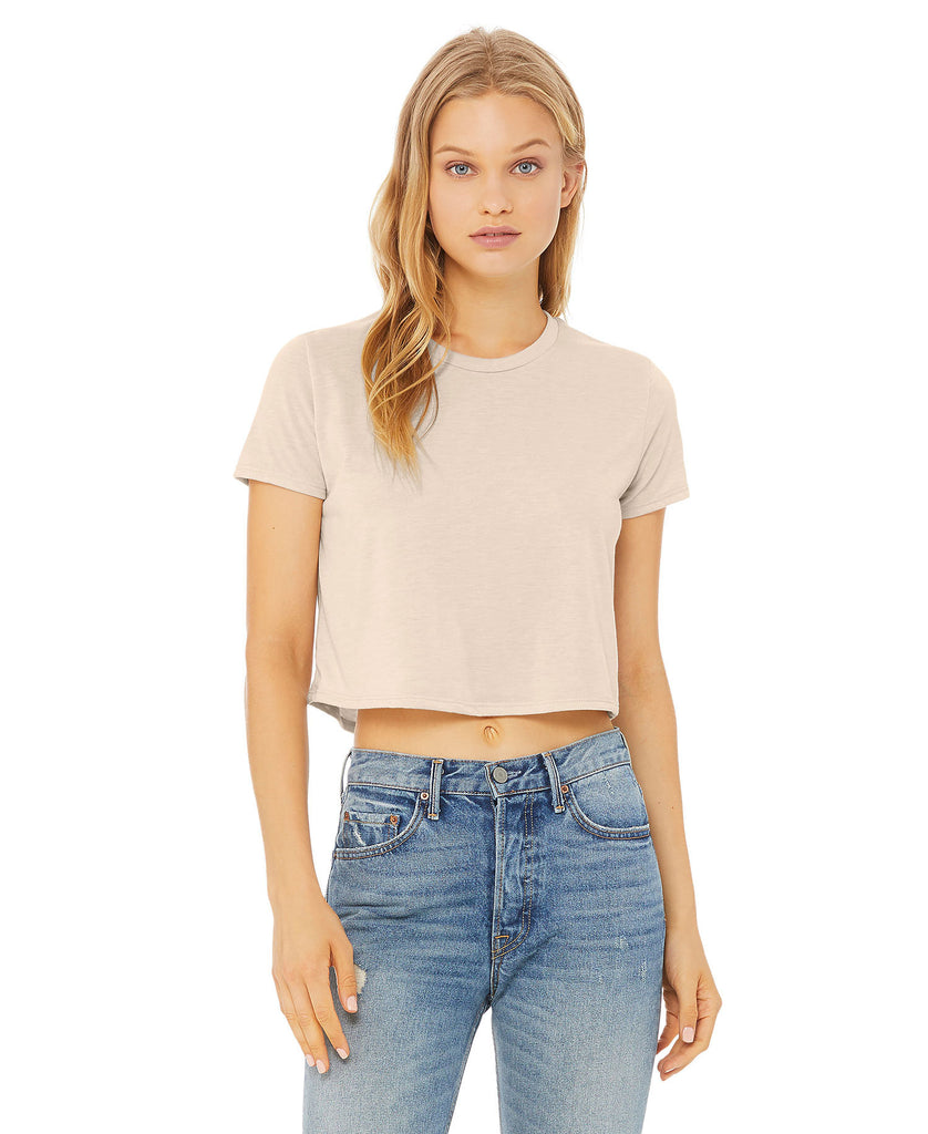 BELLA CANVAS Women's Flowy Cropped Tee B8882 - guyos apparel.com