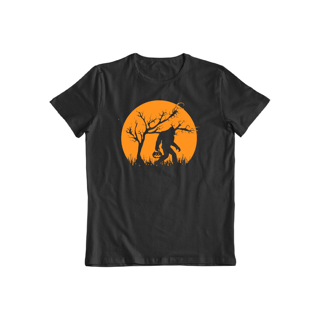 Funny Halloween Bigfoot trick and treating Unisex T shirt