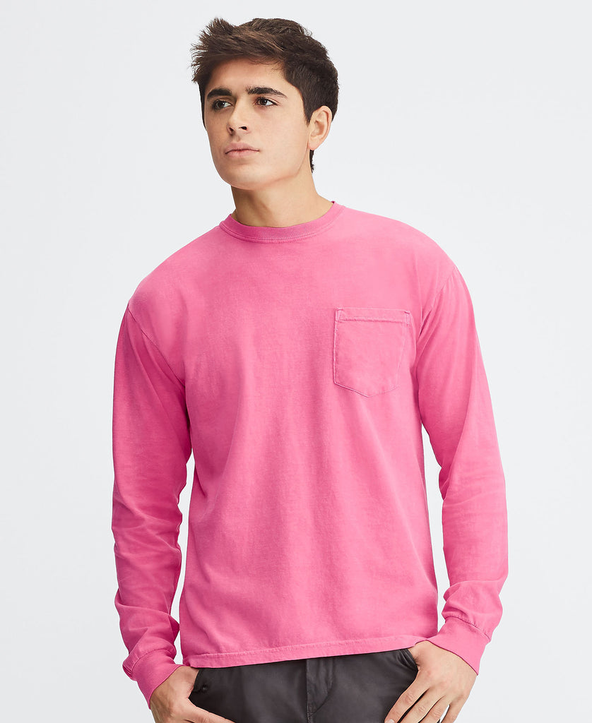 Comfort Colors Adult Heavyweight Ring Spun Long Sleeve Pocket Tee CC4410 - guyos apparel.com