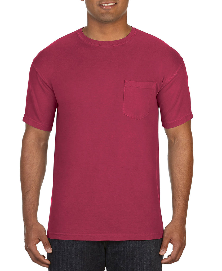 Comfort Colors Adult Heavyweight Ring Spun Pocket Tee CC6030 - guyos apparel.com